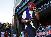 Dana Dane performs during the City Parks Foundation Salute to Hip Hop event at Von King Park in Brooklyn, New York on June 18, 2014.