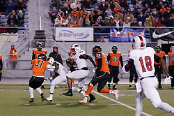 Tight End and Florida State University commit Naseir 'Pop' Upshir of Imhotep Panthers in action at the December 18, 2015 PIAA 3A State Championship at Hersheypark Stadium. (photo by Bastiaan Slabbers)