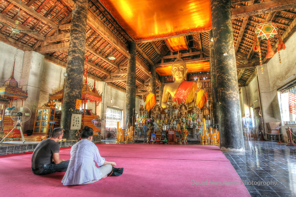 The interior of Wat Xiang Thong, Luang Prabang, Laos