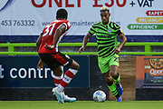 Forest Green Rovers Junior Mondal(25) on the ball  during the EFL Trophy match between Forest Green Rovers and U21 Southampton at the New Lawn, Forest Green, United Kingdom on 3 September 2019.