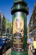 American movie ad, Boulevard Saint-Germain, Left Bank, Paris, France