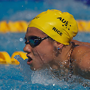 Stephanie Rice, Australia, in action in the Women's 400m IM at the World Swimming Championships in Rome on Sunday, August 02, 2009. Photo Tim Clayton.