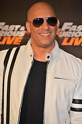 © Licensed to London News Pictures. 19/01/2018. London, UK. VIN DIESEL attends the world premiere of Fast & Furious live show at the O2. Cars will perform stunts and scenes capturing the spirit of the film series. Photo credit: London News Pictures