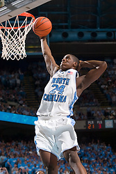 2005 February 03: North Carolina Tar Heels forward Marvin Williams (24) during a 95-71 victory over the North Carolina State Wolfpack in Chapel Hill, NC..