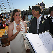 May 25, 2008 -- The wedding of Brian and Capt Brenda Walker at the Schooner Wharf in Rockland  Photo by Roger S. Duncan.