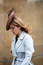 WINDSOR - UK - 27th Mar 2016: HM Queen Elizabeth, accompanied by HRH The Duke , The Duke and members of the royal family attends the annual Easter Sunday service at St George's Chapel in the grounds of Windsor Castle.<br /> <br /> Princess Beatrice<br /> Photograph by Ian Jones.
