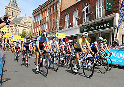© Licenced to London 19/06/2016<br /> Northampton .UK. The start of final stage of the Aviva Women's Tour lead out by Yellow Jersey holder Lizzy Armitstead. Photo credit Steven Prouse/LNP