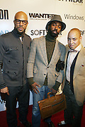 l to r: Common, Twilight Tone and Derek Dudley at the Common Celebration Capsule Line Launch with Softwear by Microsoft at Skylight Studios on December 3, 2008 in New York City..Microsoft celebrates the launch of a limited-edition capsule collection of SOFTWEAR by Microsoft graphic tees designed by Common. The t-shirt  designs. inspired by the 1980's when both Microsoft and and Hip Hop really came of age, include iconography that depicts shared principles of the technology company and the Hip Hop Star.