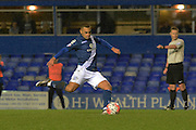 Birmingham City striker James Vaughan misses a penalty during the The FA Cup third round match between Birmingham City and Bournemouth at St Andrews, Birmingham, England on 9 January 2016. Photo by Alan Franklin.