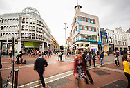 Shoppers on Grafton Street, Dublin, Ireland