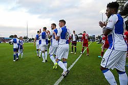 Bristol Rovers make their way onto the pitch - Rogan Thomson/JMP - 11/08/2017 - FOOTBALL - Memorial Stadium - Bristol, England - Bristol Rovers v Cardiff City - EFL Cup First Round.