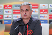 Jose Mourinho Manager of Manchester United during the Celta Vigo v Manchester United Press Conference at Balaidos, Vigo, Spain on 3 May 2017. Photo by Phil Duncan.