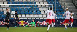 GRÖDIG, AUSTRIA - Tuesday, December 10, 2019: Liverpool's goalkeeper Benjamin Winterbottom looks dejected as FC Salzburg score the second goal during the final UEFA Youth League Group E match between FC Salzburg and Liverpool FC at the Untersberg-Arena. (Pic by David Rawcliffe/Propaganda)