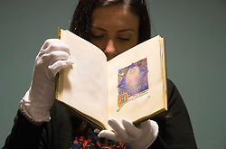 A new guide to Edinburgh University's cast collection of historic artefacts, The Directory of Collections by University of Edinburgh Head of Special Collections Joseph Marshall, is being launched.<br /> <br /> Pictured:  A rare manuscript by Phoebe Anna Traquair, a key figure in the Arts and Crafts movement,  with an 1897 painting of a larger mural that she created in Edinburgh.