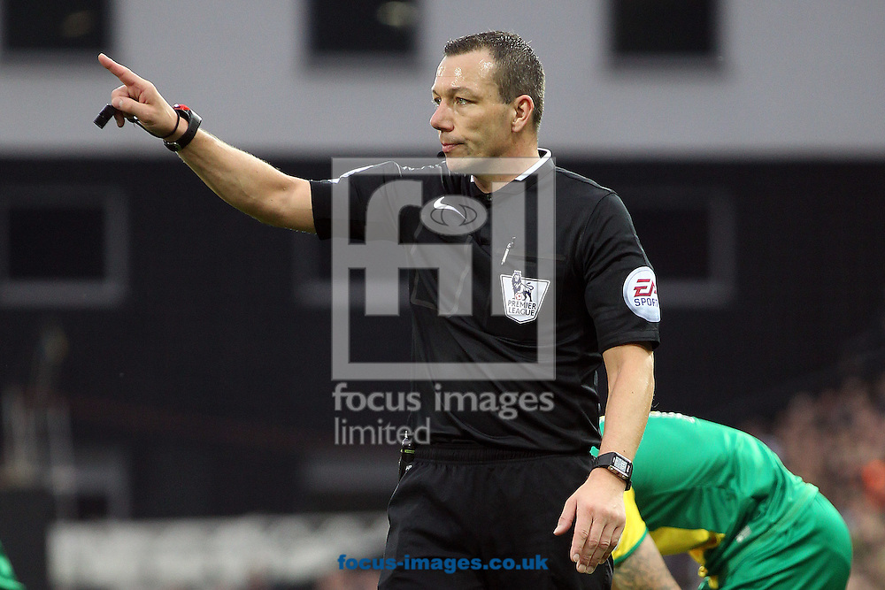 Referee Kevin Friend during the Barclays Premier League match at Carrow Road, Norwich<br /> Picture by Paul Chesterton/Focus Images Ltd +44 7904 640267<br /> 24/10/2015