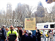 New York. NY. USA-April 15th, 2017-Thousands rally and march in New York City and around the country to demand President Donald Trump show his tax returns. Photo By Mark Apollo/Hashtag Occupy Media