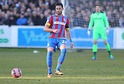 Crystal Palace Damien Delaney on the ball during the The FA Cup Third Round match between Dover Athletic and Crystal Palace at Crabble Athletic Ground, Dover, United Kingdom on 4 January 2015. Photo by Phil Duncan.