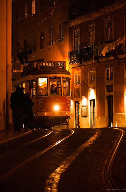 Lisbon tram 28. Portugal