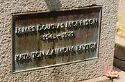 Jim Morrison's grave (American rock band The Doors) at Père Lachaise Cemetery, Paris, France
