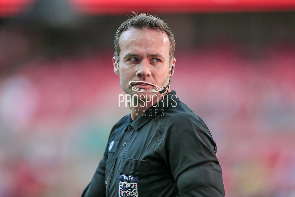 John Askey (Referee) during the FA Trophy match between Macclesfield Town and York City at Wembley Stadium, London, England on 21 May 2017. Photo by Mark P Doherty.