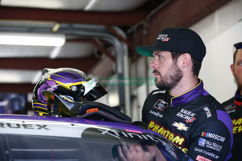 July 20, 2018 - Loudon, New Hampshire, United States of America - Ryan Truex (11) hangs out in the garage prior to final practice for the Lakes Region 200 at New Hampshire Motor Speedway in Loudon, New Hampshire. (Credit Image: © Justin R. Noe Asp Inc/ASP via ZUMA Wire)