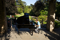 Scene from the Flower Piano event at the San Francisco Botanical Garden in Golden Gate Park in San Francisco, Tuesday, July 10, 2018. (Photo by D. Ross Cameron)