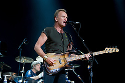 Lead vocalist and bassist Sting (Gordon Sumner) of The Police performed in concert at the John Paul Jones Arena in Charlottesville, VA on November 6, 2007.