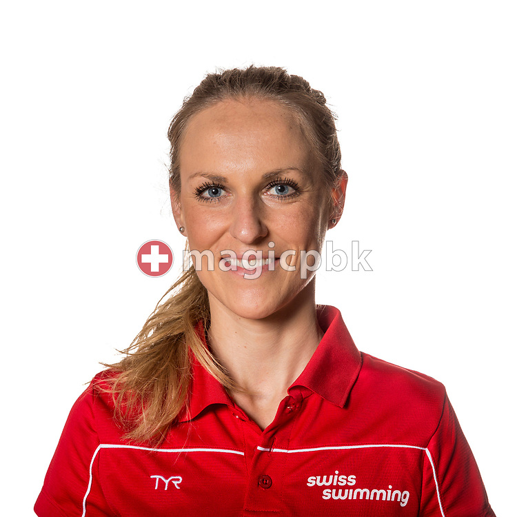 Swiss Swimming Physical therapist / physiotherapists Tina GISSA poses for a portrait photo during the Swiss Swimming Championships at the Piscine des Vernets in Geneva, Switzerland, Sunday, March 26, 2017. (Photo by Patrick B. Kraemer / MAGICPBK)