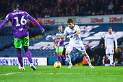 Mateusz Klich of Leeds United (43) lines up a shot during the EFL Sky Bet Championship match between Leeds United and Bristol City at Elland Road, Leeds, England on 24 November 2018.