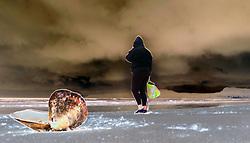 Muizenberg. 29.06.18. A stroller on Muizenberg beach. Picture Ian Landsberg