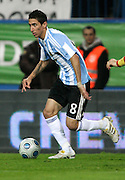 Argentina's Angel Di Maria in action during the international friendly match between Spain and Argentina in Madrid, Spain on November 14 2009.
