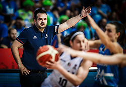 Damir Grgic, head coach of Slovenia during basketball match between Women National teams of Italy and Slovenia in Group phase of Women's Eurobasket 2019, on June 30, 2019 in Sports Center Cair, Nis, Serbia. Photo by Vid Ponikvar / Sportida