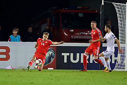 TBILSI, GEORGIA - Friday, October 6, 2017: Wales' David Edwards during the 2018 FIFA World Cup Qualifying Group D match between Georgia and Wales at the Boris Paichadze Dinamo Arena. (Pic by David Rawcliffe/Propaganda)