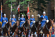 Queensland Police mounted horse unit in Brisbane ANZAC day 2014 parade