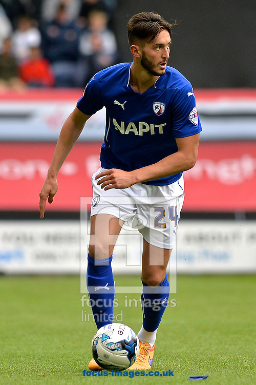 Oliver Banks of Chesterfield during the Sky Bet League 1 playoff match at Deepdale, Preston<br /> Picture by Ian Wadkins/Focus Images Ltd +44 7877 568959<br /> 10/05/2015