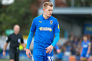 AFC Wimbledon striker Joe Pigott (39) walking off the pitch during the EFL Sky Bet League 1 match between AFC Wimbledon and Burton Albion at the Cherry Red Records Stadium, Kingston, England on 9 February 2019.