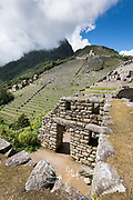 The Inca citadel of Machu Picchu.