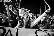 Women protests against Donald Trump in downtown Miami
