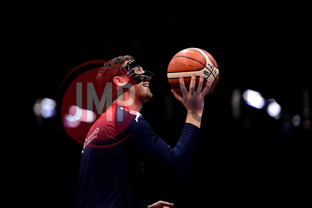 Josh Rogers of Bristol Flyers prior to tip off - Photo mandatory by-line: Ryan Hiscott/JMP - 01/11/2019 - BASKETBALL - University of Worcester - Bristol, England - Worcester Wolves v Bristol Flyers - British Basketball League Cup