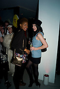 Tallulah Adeyemi  AND Amy Molyneux, A very Private Affair, Agent Provocateur in association with arena magazine. Spring/Summer collection party. Louise T. Blouin Foundation. 3 Olaf St. London. 1 April 2008. *** Local Caption *** -DO NOT ARCHIVE-© Copyright Photograph by Dafydd Jones. 248 Clapham Rd. London SW9 0PZ. Tel 0207 820 0771. www.dafjones.com.