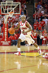 "03 February 2007: Keith ""Boo"" Richardson. In what is locally referred to as the War on Seventy Four, the Bradley Braves defeated the Illinois State University Redbirds 70-62 on Doug Collins Court inside Redbird Arena in Normal Illinois."