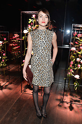 ELLA CATLIFF at the Lancôme pre BAFTA party held at The London Edition, 10 Berners Street, London on 14th February 2014.