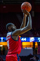 NORMAL, IL - December 18: Tarkus Ferguson with a jump shot from behind the 3 point line during a college basketball game between the ISU Redbirds and the UIC Flames on December 18 2019 at Redbird Arena in Normal, IL. (Photo by Alan Look)