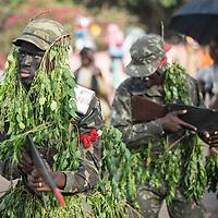 03/03/2014. Bissau. Guinée Bissau. Defilé du Carnaval de Bissau où sont représentés les différentes régions et quartiers de la capitale. ©Sylvain Cherkaoui pour JA.