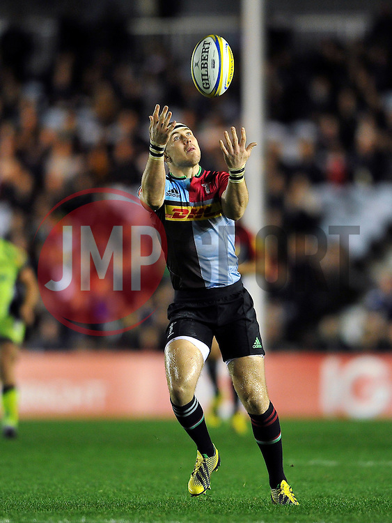Mike Brown of Harlequins looks to claim the ball - Mandatory byline: Patrick Khachfe/JMP - 07966 386802 - 06/11/2015 - RUGBY UNION - The Twickenham Stoop - London, England - Harlequins v Sale Sharks - Aviva Premiership.