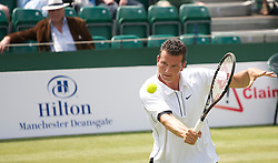 MANCHESTER, ENGLAND: Richard Krajicek (NED) during Day one of the Manchester Masters Tennis Tournament at the Northern Tennis Club. (Pic by David Tickle/Propaganda)
