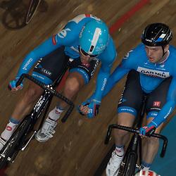 28-12-2014: Wielrennen: NK Baanwielrennen: Apeldoorn<br />koppelkoers Yoeri Havik en Dylan van Baarle pakken de titel op de madison