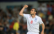 Frank Lampard of England celebrates after scoring to make it 0-4