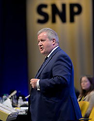 Pictured: Westminster leader Ian Blackford MP speaks to conference.<br /> <br /> The SNP held their spring conference at the EICC in Edinburgh, where independence and brevet were high on the agenda.<br /> <br /> © Dave Johnston / EEm
