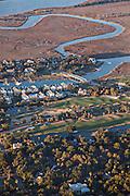 Aerial showing the River Course on Kiawah Island, South Carolina.